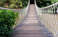 Rope bridge Royalty Free Stock Photo