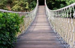 Rope bridge. Passage walk way Royalty Free Stock Photo