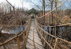 Rope bridge. Stock Photo