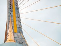 Rope bridge in thailand. Abstract architecture Royalty Free Stock Photo