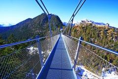 Rope bridge tyrol royalty free stock photos