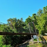 Rope bridge Royalty Free Stock Image