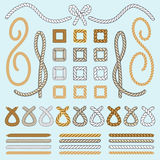Rope brushes vector Royalty Free Stock Images