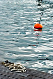 Rope and buoy Royalty Free Stock Images