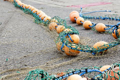 Rope with buoys Royalty Free Stock Photo