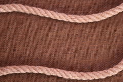Rope on Burlap Royalty Free Stock Photos