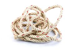 Rope busy in white background royalty free stock photography