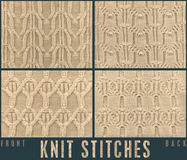 ROPE CABLE KNIT STICH FOR KNITWEAR Royalty Free Stock Photo