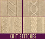 ROPE CABLE KNIT STICH FOR KNITWEAR Royalty Free Stock Images
