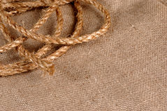 Rope and canvas Stock Photo