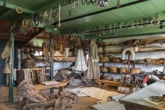 Rope and canvas store - Ships chandler. Rope and canvas store in an old ships chandler. Zuiderzee Open Air Museum in the Netherlands Royalty Free Stock Images