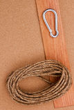 Rope and Carabiner Royalty Free Stock Photography