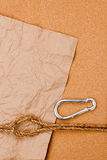 Rope and Carabiner Stock Photography