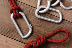 Rope and Carabiners Royalty Free Stock Photo