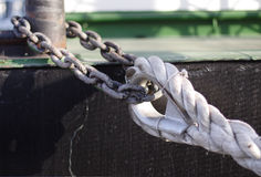 Rope and chain Stock Photo