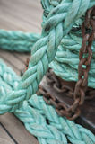 Rope and chain Royalty Free Stock Photo