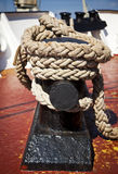 Rope on cleat Stock Photography