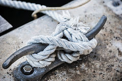 Rope on cleat Stock Image