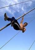 Rope Climb Stock Photo