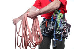 Rope and climber Royalty Free Stock Image