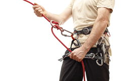 Rope and climber Stock Image