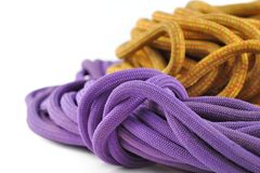 Rope for climbing Stock Photo