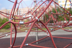Rope climbing frame Royalty Free Stock Photo