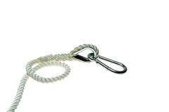Rope with clip royalty free stock photos