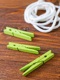 Rope and clothespin Royalty Free Stock Photos