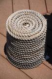 Rope coil. Coil of rope royalty free stock images
