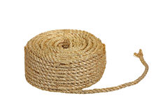 Rope Coil. Isolated on a white background Stock Image