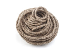 Rope coil isolated on a white Royalty Free Stock Photo