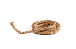 Rope coil isolated on white Royalty Free Stock Image