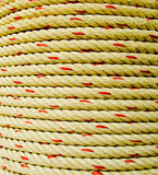 Rope coil makes of the fiber plants  or Jute. Stock Photo