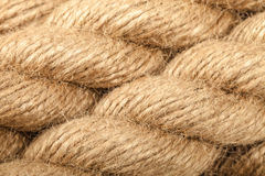 ROPE COIL. Natural rope strings close up Stock Photos