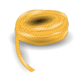 Rope. Coil of Strong Rope  on White Background Royalty Free Stock Image