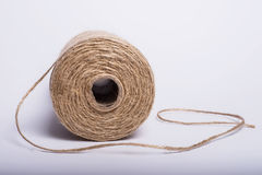 Rope coil  on a white background Royalty Free Stock Images