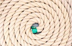 Rope coiled up in circles stock image