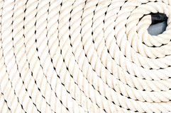 Rope coiled up in circles Royalty Free Stock Photos