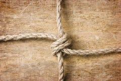 Rope con los nudos imagen de archivo