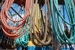 Rope control the sails Royalty Free Stock Photo