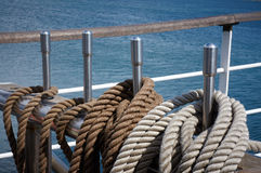 Rope control the sails Stock Photos