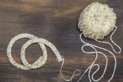 Rope crocheting Stock Photo