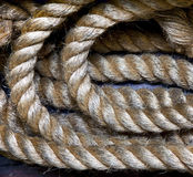 Rope on deck Stock Images