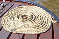 Rope on deck Royalty Free Stock Photos