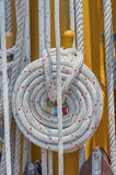 Rope on deck Stock Photos