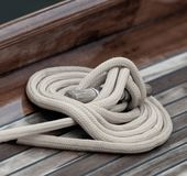 Rope on deck royalty free stock photography