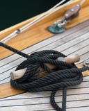 Rope on deck royalty free stock image