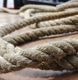 Rope on the deck Stock Photos
