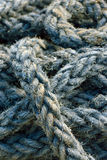 Rope detail, closeup. Ship rope background in detail Stock Image